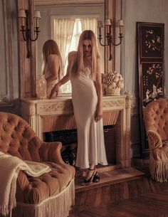 la vie de château: edie campbell and mica arganaraz by inez & vinoodh for vogue paris october 2015 | visual optimism; fashion editorials, shows, campaigns & more!