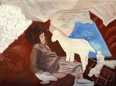 cricar.com | Nomadic, oil on canvas painting by Carmen Cristea