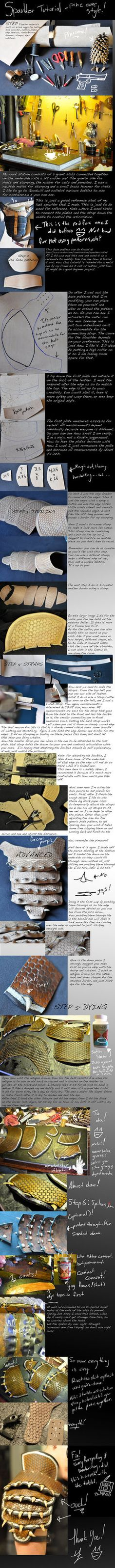 leather armour spaulder tutorial