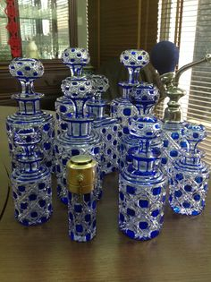 Baccarat parfume bottles 19 century..
