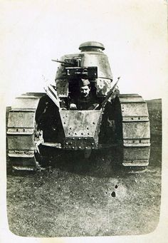 French FT-17 tank, the first mass produced tank with a turret