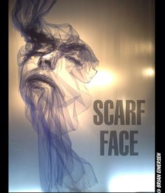 """BERGDORF GOODMAN, 5th Avenue, New York, """"Scarf Face"""", (The Tulle Project by Benjamin Shine Studio), pinned by Ton van der Veer"""