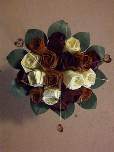 origami rose bouquet  - wedding