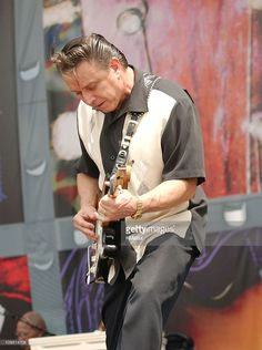 Jimmie Vaughan during Crossroads Guitar Festival Day Three at Cotton Bowl Stadium in Dallas Texas United States Stevie Ray Vaughan Guitar, Steve Ray Vaughan, Jimmie Vaughan, Cotton Bowl, Delta Blues, Blues Brothers, Muddy Waters, Blues Artists, People Of Interest