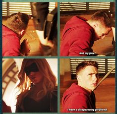 "Arrow - 2x03 Broken Dolls [gifset] - ""I have a disapproving girlfriend."" - Roy Harper meets Black Canary - Instad"