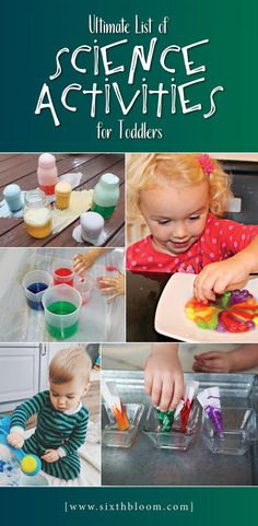 Toddler science activities, STEAM activities for preschoolers, STEM for Kids, Science experiments for preschool