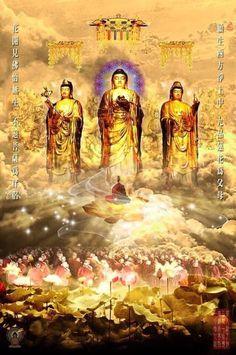 Peaceful Words, Amitabha Buddha, Om Mani Padme Hum, History Of India, Buddha Art, Buddhism, Spirituality, Statue, Painting
