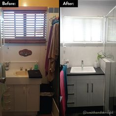 Complete bathroom renovation in Mackay. Our team removed the bath/shower and replaced it with a larger walk-in shower to achieve a more modern look. #renovations #homeimprovement #renovation #renovate #remodel #queensland #bathroom #qld #mackay #homerenovation