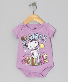 Take a look at the Fuchsia 'Always Smiling' Snoopy Bodysuit - Infant on #zulily today!