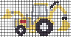 Bulldozer X-Stitch Cross Stitch For Kids - Diy Crafts - hadido - Knitting patterns, knitting designs, knitting for beginners. Cross Stitch For Kids, Cross Stitch Borders, Cross Stitch Baby, Cross Stitch Charts, Cross Stitching, Cross Stitch Embroidery, Cross Stitch Patterns, C2c Crochet, Tapestry Crochet