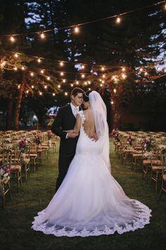 sparkle decoração casamento luzes noite ar livre noiva yellow salão londrina