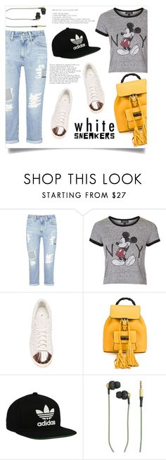"""""""Lazy day..."""" by anchilly23 ❤ liked on Polyvore featuring AG Adriano Goldschmied, Topshop, adidas, Gucci, adidas Originals and Kreafunk"""