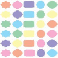 Pastel Digital Frames, Pastel Clip Art, Pastel Tags, Digital Clipart, Digital Download, Clipart Frame, Frames Clipart, Digital Labels  - 1 Zip folder