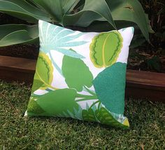 Green Tropical Outdoor Cushions, Outdoor Pillows Costa Rica Modern Pillows Outdoor Cushions Tropical Pillows. Modern Colourful Floral