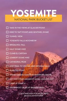 17 Things to Do in Yosemite National Park Bucket List // Local Adventurer If you're planning a visit, here are 15 Breathtaking Things to do in Yosemite National Park. It's our fave park, and we've even talked about moving there. British Columbia, The Last Summer, Summer Fun, Yosemite Falls, Us National Parks, Joshua Tree National Park, Vacation Trips, Yosemite Vacation, Yellowstone Vacation