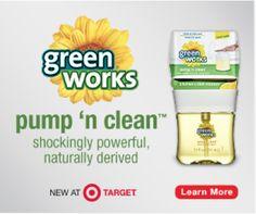 New Green Works Pump 'N Clean   Target Cartwheel Offer #naturallyclean #ad
