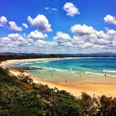 Byron Bay #Australia    - I had the pleasure of going to Byron Bay on my travels to Australia. I took a surfing lesson there and actually got up on a board, even though it was huge and styrafoam! lol I loved this place in the world....