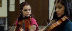 Mattie Carver (Izzie Steele) ponders Aiyana (Lucine Fyelon)