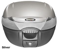 """Shad SH-33 motorcycle top case in silver. Designed to attach to most flat luggage racks. Its dimensions are: 16.5"""" L x 16.9"""" W x 12.2"""" H  and has a 33 liter capacity. Your price is $134.95. With Free Shipping."""