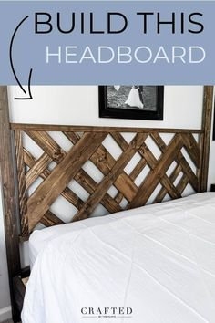 DIY Headboard in 7 Simple Steps - Crafted by the Hunts Diy King Headboard, Diy King Bed Frame, Cheap Diy Headboard, Headboards For Beds Diy, Diy Wooden Headboard, Bed Frame Plans, Cushion Headboard, Headboard Ideas, Bedroom Ideas