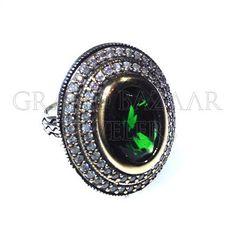 Classic Antique Turkish Silver Rings Designer Turkish Jewelry Handmade by Jewelers & Artisans of the Grand Bazaar in Istanbul Turkey GBJ1455 Ethnic Jewelry Online Shop GrandBazaarJewelers.com