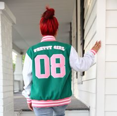 Fleece Varsity Jacket | Fashionably Greek