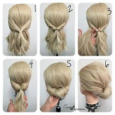 Different updos for long hair - new hair hairstyles 2018 frisuren haare hair hair long hair short Work Hairstyles, Quick Hairstyles, Hairstyles 2018, Braided Hairstyles, Easy Wedding Guest Hairstyles, Easy Formal Hairstyles, Hairstyles Videos, Medium Hair Styles, Curly Hair Styles