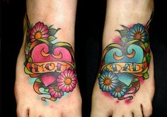 As long as this person is cool with these rather large, flowery heart tattoos across the top of both feet, then everything is great. Description from tattoomixer.com. I searched for this on bing.com/images