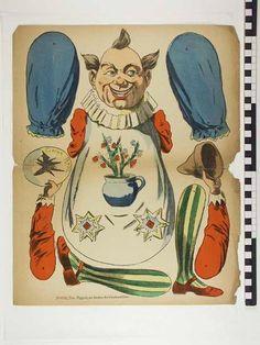 Victorian Paper Dolls, Vintage Paper Dolls, Vintage Circus, Paper Puppets, Paper Toys, Decoupage Vintage, Vintage Crafts, Renz, Paper People