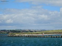 The view towards Warkworth, from off the coast at Amble