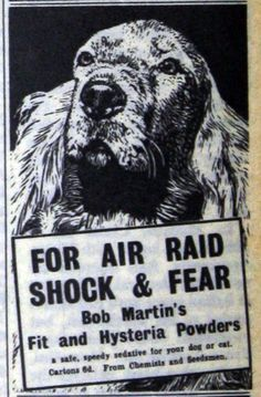 Bob Martin's Fit and Hysteria Powders, July 1940 - for air raid shock and fear