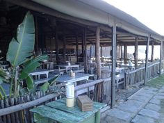 Walskipper restaurant - enjoy your food with your feet in the sand. Claptons Beach at the Marina Martinique Lofts For Rent, Tree Line, Beautiful Sunset, Palm Trees, South Africa, Catering, Surfing, Restaurant, Beach
