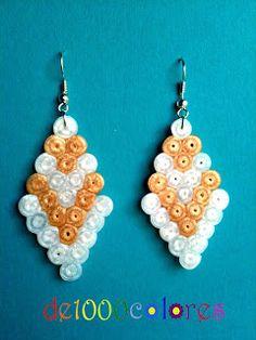 Pendientes hama beads - de1000colores