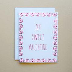 Happy Cactus Designs My Sweet Valentine Card //  © Happy Cactus Designs