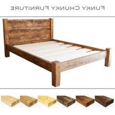 Elegant Hausgemachte King Size Bett Rahmen   Homemade King Size Bett Rahmen. Bett