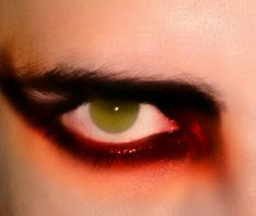 My Egyptian eyes painted with shades of neon!