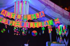 Blacklight Party Banner