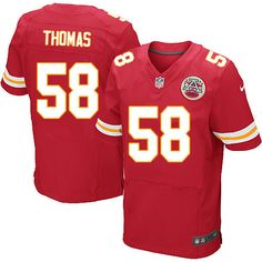 Nike Kansas City Chiefs Mens  58 Derrick Thomas Elite Red Team Color NFL  Jersey Red 1667cc8bf