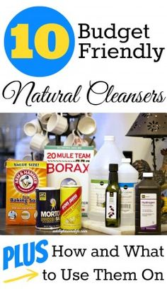 DIY Natural Cleaners: fast, easy, budget friendly cleaning tips and cleanser recipes. Great ways to remove chemicals from your cleaning routine and save money too. Homemade Cleaning Products, Household Cleaning Tips, House Cleaning Tips, Natural Cleaning Products, Cleaning Hacks, Household Cleaners, Cleaning Supplies, Household Products, Natural Cleaning Solutions