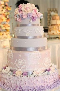 Purple wedding cake | Dream Wedding