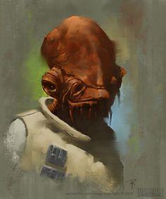 "ArtStation - Star Wars Portraits - ""On the Front Lines"", Aaron J Riley"