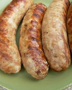 When it comes to the dueling sausages of our house, it's Bratwurst vs. Parsley and Cheese . Usually the PC wins( Bonne Femme's fave), bu. Bratwurst Sausage, Sausages, Brat Sausage, Turkey Sausage, Farmer Sausage, Kielbasa, Home Made Sausage, Homemade Sausage Recipes, Gastronomia