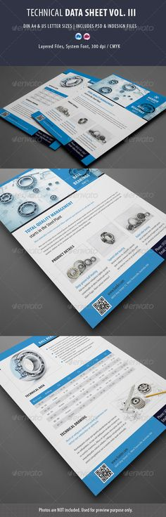 Technical Data or Product Sheet Vol. III - Corporate Flyers