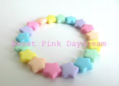 Hey, I found this really awesome Etsy listing at https://www.etsy.com/listing/212362553/fairy-kei-pastel-stars-bracelet-kawaii
