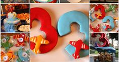 I had so much fun planning my son's   3 rd Birthday party this year!   His dad chose this year's theme - airplanes .   Since th...