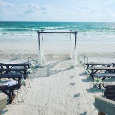 #beachwedding #engaged #justmarried #destinationwedding #floridawedding #weddingdecor Simple Beach Wedding, Simple Weddings, Beach Ceremony, Beach Weddings, Ceremony Decorations, Just Married, Decor Crafts, Destination Wedding, Florida