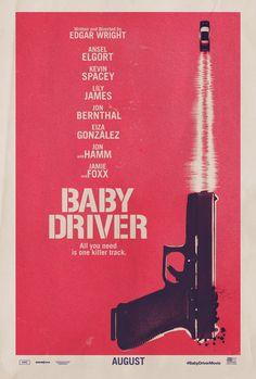 Cooles Retro-Poster für Baby Driver.