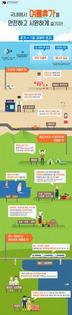 """""""여름휴가는 길~게, 안전하고 시원한 국내 관광지로 떠나세요!"""" [인포그래픽] #SummerVacation / #Infographic ⓒ 비주얼다이브 무단 복사·전재·재배포 금지"""