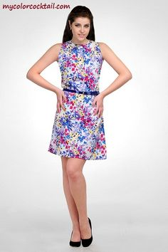 Falling for floral?? Go for this Multi color Floral dress from mycolorcocktail.com...!!!