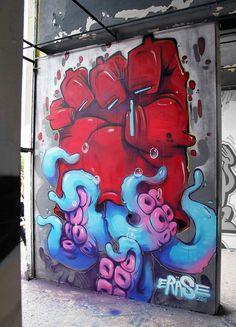 Une sélection d'illustrations et de street art issus du portfolio de l'illustrateur / graffeur bulgare Georgi Dimitrov (Sofia) aka Erase, au style faussement e